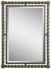 Garrick Wrought Iron Traditional Rectangle Wall Mirror by Uttermost 01106