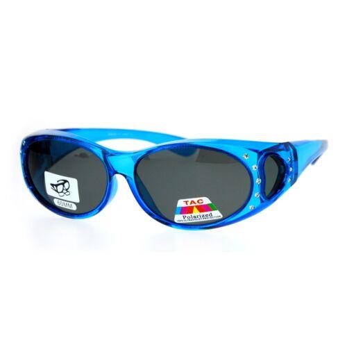 SA106 Rhinestone Polarized Womens 60mm Over the Glasses Fit Over Sunglasses