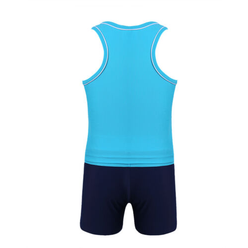 Girls Kids Tankini Set Swimwear Bikini Skirt Swimsuit Swimming Beachwear Costume