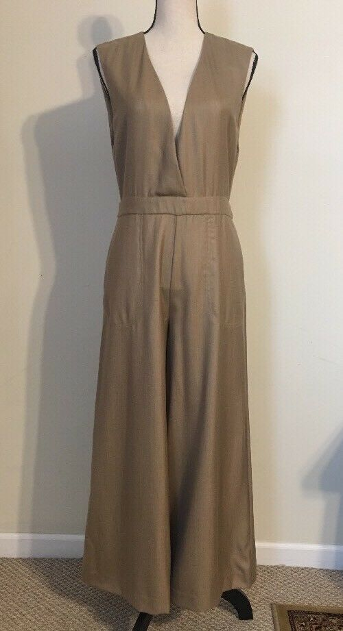 NEW JCREW 100% Cashmere Jumpsuit Size6 In Light Camel (SAMPLE) RARE