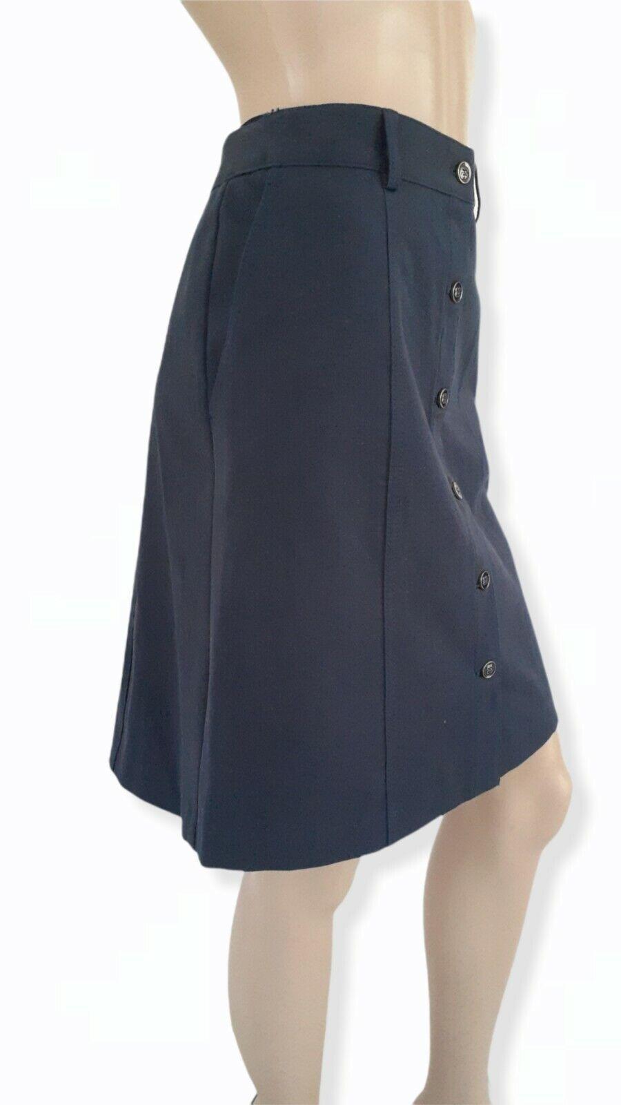 J McLaughlin Teal Button Front A Line Skirt Size 2 - image 3