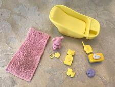 BARBIE HAPPY FAMILY Pregnant Midge Baby Infant Nursery Bathtub Monitor Towel HTF