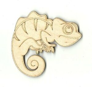 Chameleon - Unfinished Laser Cut Out Wood Shape Craft Supply REP15