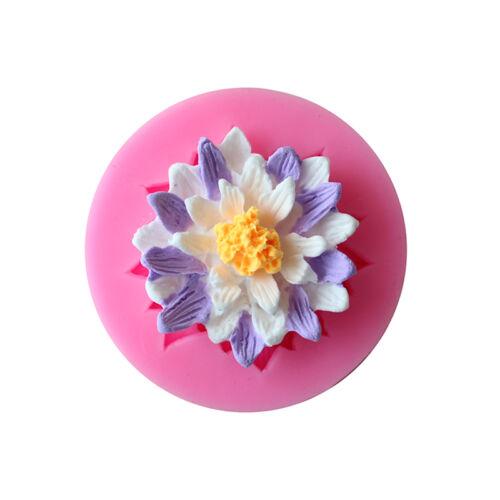 Flower Rose Silicone Fondant Mold Candy Cake Chocolate Decorating Baking Mould