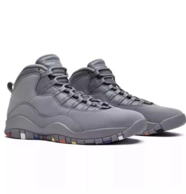 wholesale dealer 8e0bc 50c85 Nike Air Jordan Retro 10 Mens 9 Cool Grey Basketball Athletic Shoes  310805-022