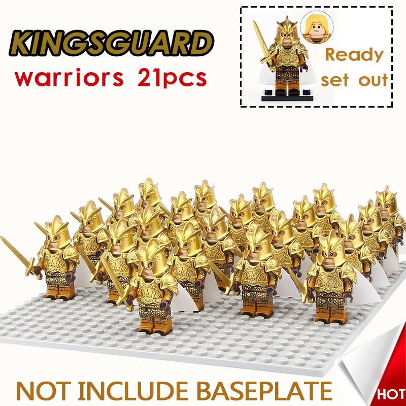 Kingsguard Army Chrome, Game of Thrones, Lannister 21 Minifigures, Fits Lego