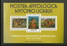 1984 MOSTRA ANTOLOGICA ANTONIO LIGABUE FOGLIETTO ERINNOFILO CENCENIGHE AGORDINO