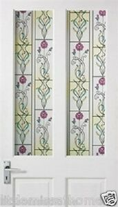 3D-MULTI-COLORED-FLOWER-DESIGN-WINDOW-FILM-DOOR-CLING-STAINED-GLASS-ROLL-PRIVACY