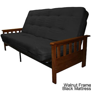 Image Is Loading Portland Wood Metal Futon Frame And Mattress
