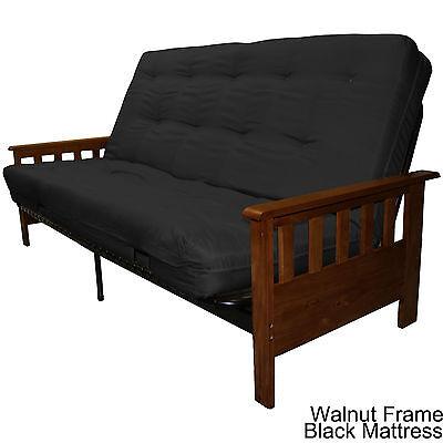 Amazing Portland Wood Metal Futon Frame And Futon Mattress Set Choos Finish Mat Color Ebay Inzonedesignstudio Interior Chair Design Inzonedesignstudiocom