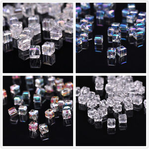 20pcs-New-Various-Colors-Glass-Crystal-Cube-Spacer-Beads-6x6x6mm-For-DIY-Jewelry