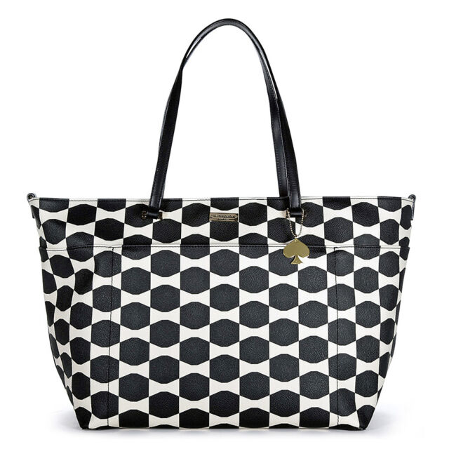 Kate Spade New York Bow Tile Francis Baby Bag - Black/Ostrich Egg