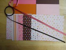 Stampin Up SWEET ALWAYS 6 x 6 Designer Paper Card Kit Ribbon