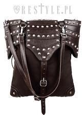 Restyle Brown Armor Steampunk Goth Punk Rocker Medieval Handbag Purse Bag
