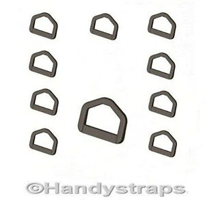 10-x-25-mm-Black-Plastic-D-Ring-Buckles