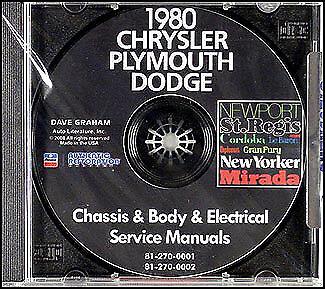 PLYMOUTH 1980 Gran Fury /& Volare Shop Manual CD