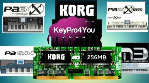 Korg Keyboard 256MB  Sample RAM memory Speichererweiterung  pa800 pa2x pa3x m3