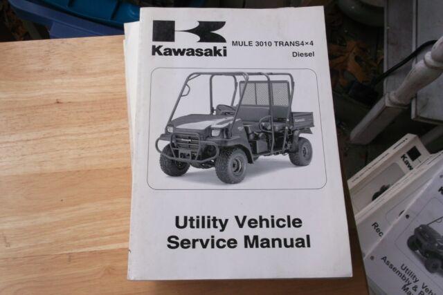 2008 Kawasaki Mule 3010 Trans 4x4 Diesel Oem Dealer