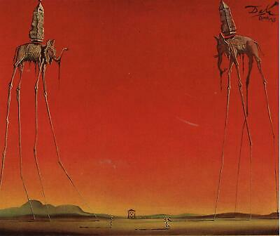The Elephants Salvador Dali Poster Canvas Picture Art Print Premium Quality