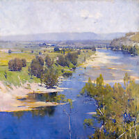Arthur Streeton, Purple Noon's Transparent Might 1896, HD Art Print or Canvas
