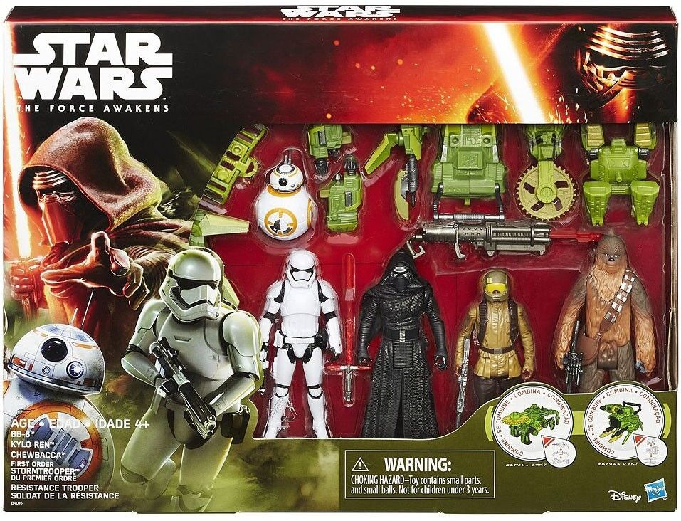 estrella guerras The Force Awakens Forest Mission Exclusive azione cifra 5Pack