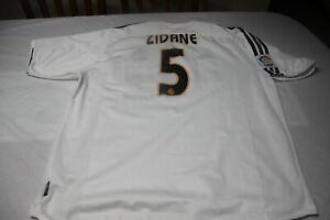 Camiseta Futbol OFICIAL 2004-05 REAL MADRID Home 5 ZIDANE Talla XL size LFP