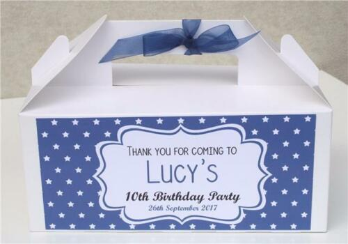 PERSONALISED CHILDRENS ACTIVITY BOX Birthday Party gift bag favour any colour