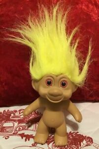 Vintage-1991-TNT-Yellow-Haired-Pink-Eyed-Troll-Doll