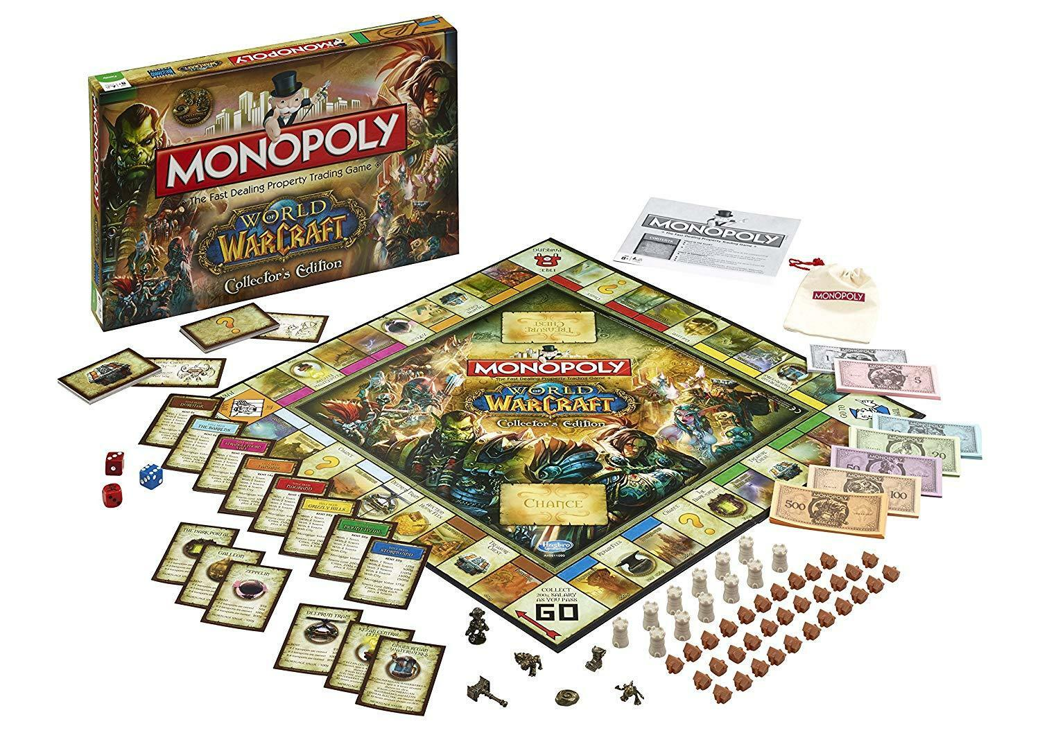 Monopoly - world of warcraft collector 's edition brettspiel - neue & versiegelt