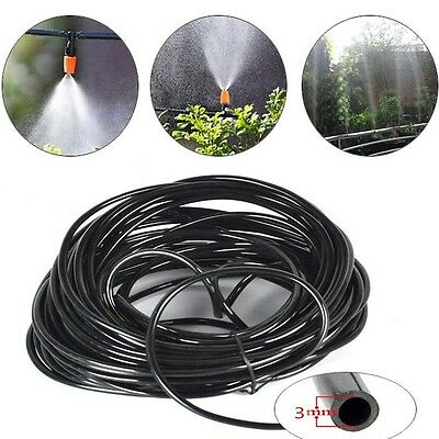20M Garden Irrigation Drip Pipe 3/5mm Micro Tube Hose Line Dripper System HG