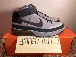 Nike Shox Spotlight Medium Gray Suede Red RARE 315836 005 Men s Size ... 4c0e94109