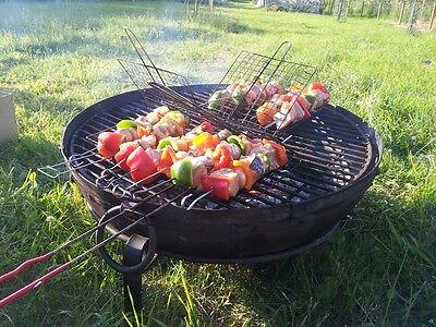 inc Grill /& Stand - Fire Bowl Set 60cm Kadai Fire Pit Set with COVER Karahi