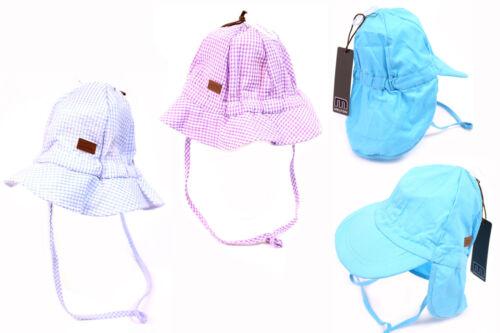 MELTON Kinder Mütze Gr 45-49 Frühling Blende NEU Sommer Baby Hut UV-Schutz 30