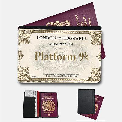 HARRY POTTER TRAIN TICKET Passport Holder Travel  Protection Flip Cover Case