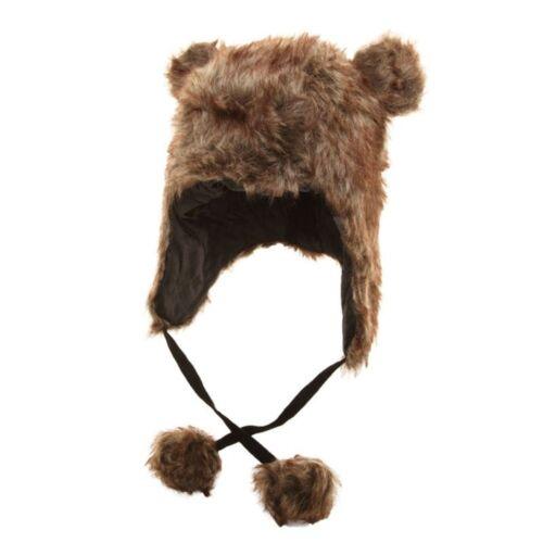 Sombrero De Piel Sintética peruano con Sombrero De Esquí Invierno POM Orejas Trampero Damas vendedor del Reino Unido