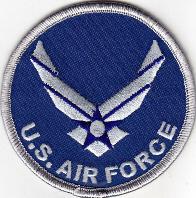"""U.S. AIR FORCE"" LOGO - IRON ON PATCH - MILITARY, PATRIOTIC, PROFESSION - FLIGHT"