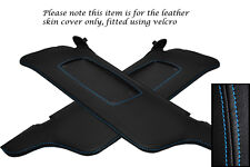 BLUE STITCHING FITS FORD MUSTANG 99-04 2X SUN VISORS LEATHER COVERS ONLY