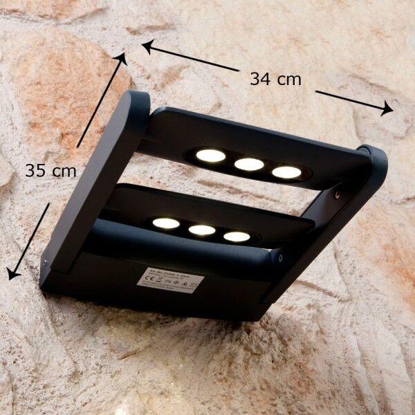 Applique à LED 6 flammes Lampe murale extérieure Spot Luminaire de jardin 29687