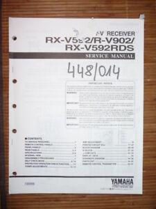 service manual yamaha rx v592 r v902 receiver original ebay rh ebay com au Yamaha R15 Yamaha YZF-R6