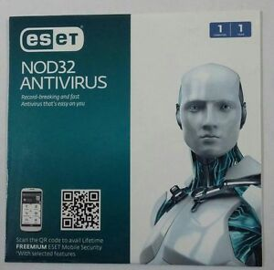 ESET NOD32 Antivirus 1 Year Protection for 1 PC (Latest Version) 100% Seal Pack