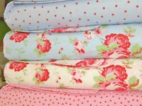 Cath Kidston Patchwork Squares Fabric Bundle Layer Cake 100% Cotton 20cm x 4