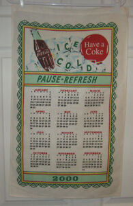 collectible hanging wall calendar 2000 millinum coca cola coke