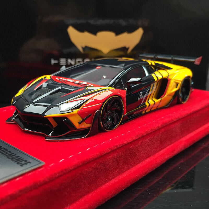 Henson & PARADISO LIBERTY Passeggiata rosso e nero Lamborghini Aventador LP700 2.0 Auto Diecast