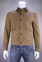 Brioni 2016 Light Brown Suede Leather Bomber Jacket Coat 40/medium