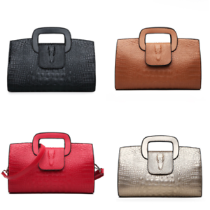 Узор под крокодиловую кожу дамская сумка наплечная сумка повседневный посланник fashionv черное женское
