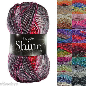 King-Cole-Shine-DK-Knitting-Yarn-with-Glitter-Metallic-Thread-For-Added-Sparkle