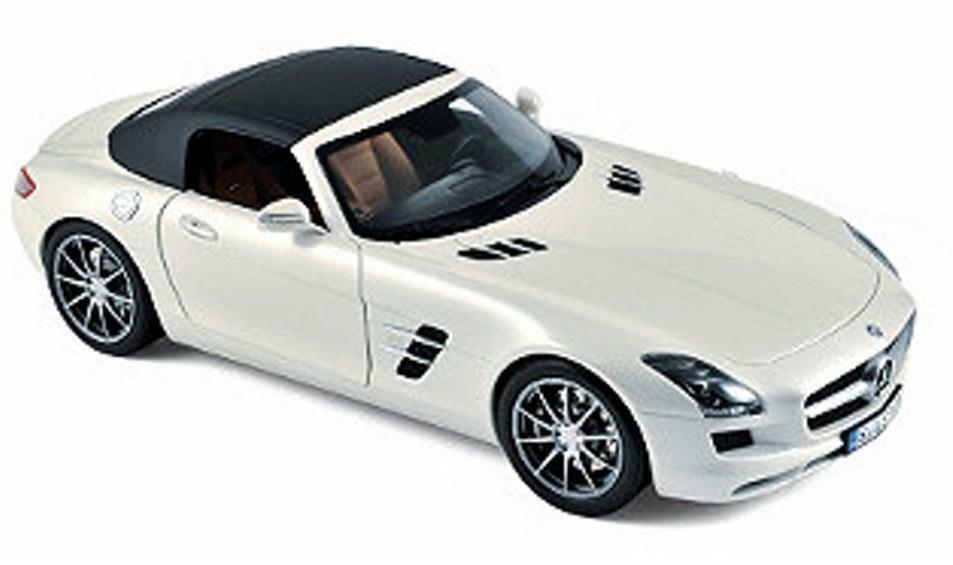 Norev 1 18 2011 Mercedes Benz SLS AMG Roadster Diecast Modelo biancao 183491
