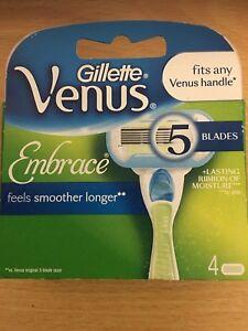 Gillette Venus Embrace Razor Blades  Pack Of 4 Cartridges - Slough, United Kingdom - Gillette Venus Embrace Razor Blades  Pack Of 4 Cartridges - Slough, United Kingdom