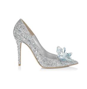 Cinderella Princess Crystal Shoes Girls