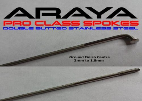 Araya ATB Road Spokes St Steel Sp.Offer DOUBLE BUTTED 186-270 mm 36